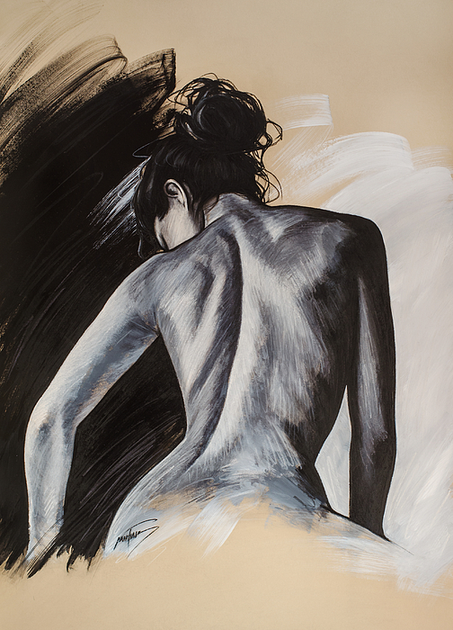Female Painting - Untitled by Mahtab Alizadeh