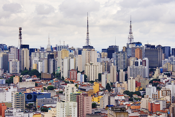 Apartment Photograph - Buildings Of Downtown Sao Paulo by Jeremy Woodhouse