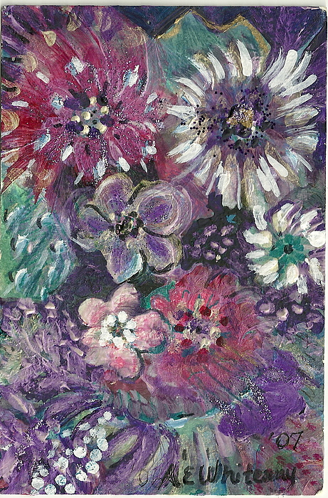 Flowers Painting - Untitled by Anne-Elizabeth Whiteway