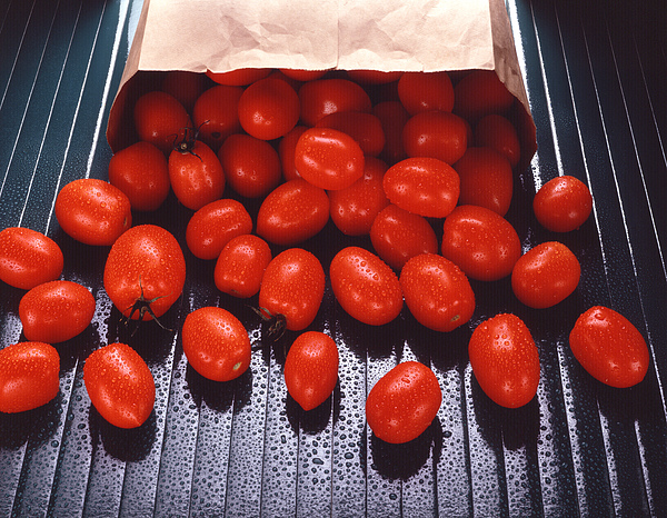 Photo Decor Photograph - A Bag Of Tomatoes by Steven Huszar