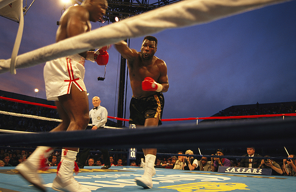 Outdoors Photograph - A Boxer Delivers A Punch by Maria Stenzel