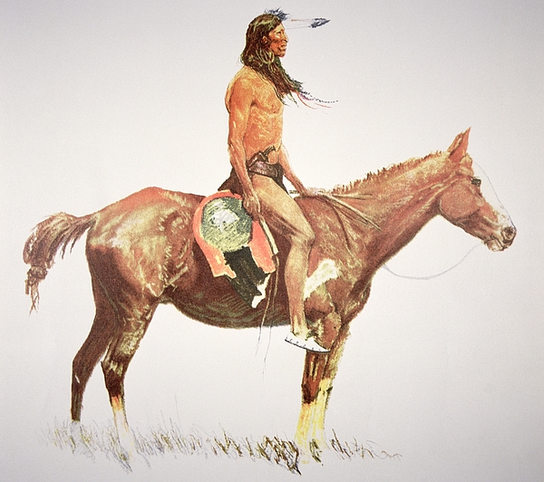 A Cheyenne Brave Painting