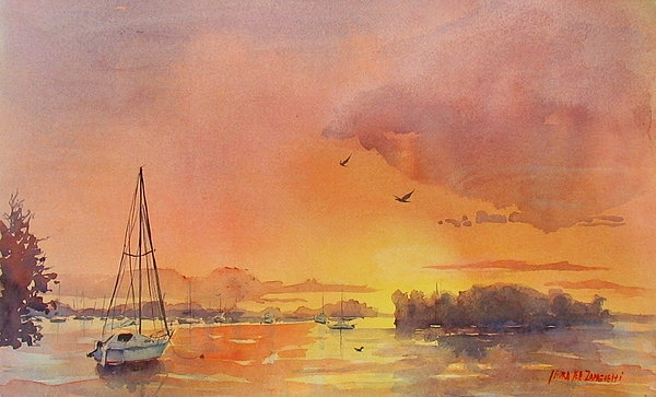 A Hingham Sunset Painting