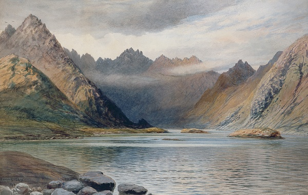 Loch Painting - A Loch North Of Hadrians Wall by Walter Severn