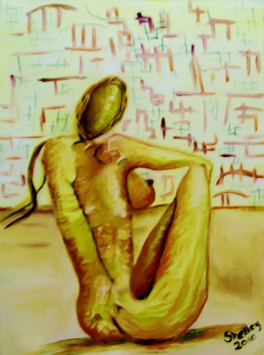 Nude Painting - A Moment In Time by Shelley Bain