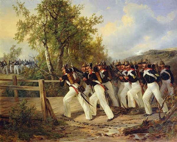 A Scene From The Soldiers Life Painting