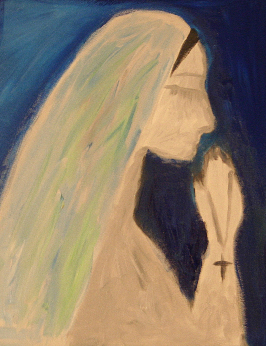 Silent Painting - A Silent Prayer In The Night by Ty Agha