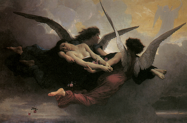 Adolphe William Bouguereau Painting - A Soul Brought To Heaven by Adolphe William Bouguereau