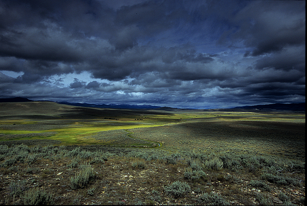 Outdoors Photograph - A Storm Builds Up Over A Colorado by David Edwards