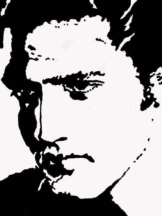 Elvis Drawing - A Young Elvis by Robert Margetts