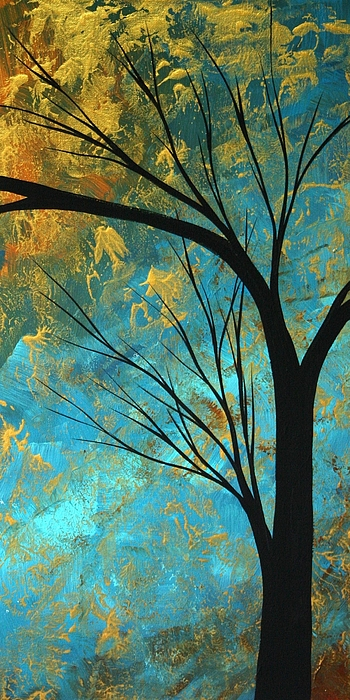 Abstract Painting - Abstract Landscape Art Passing Beauty 3 Of 5 by Megan Duncanson