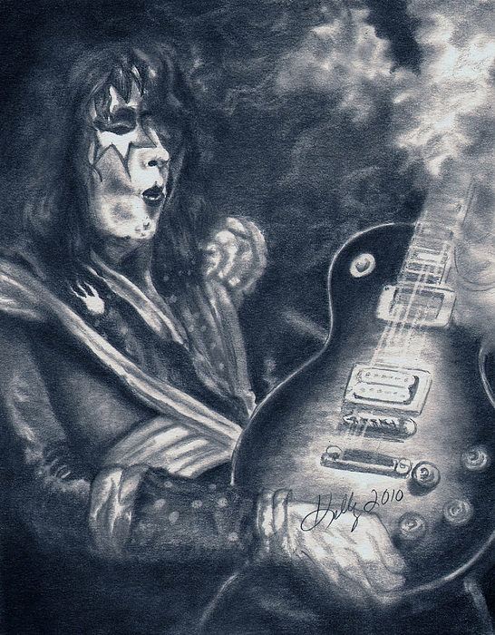 Kiss Drawing - ACE by Kathleen Kelly Thompson