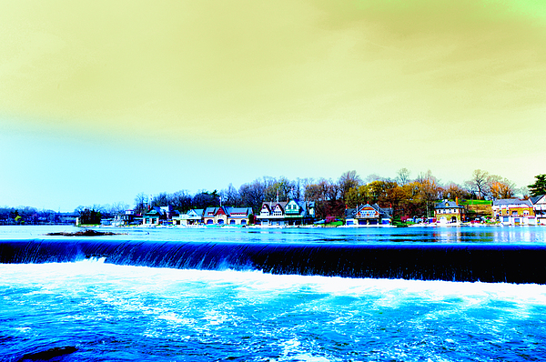 Philadelphia Photograph - Across The Dam To Boathouse Row. by Bill Cannon