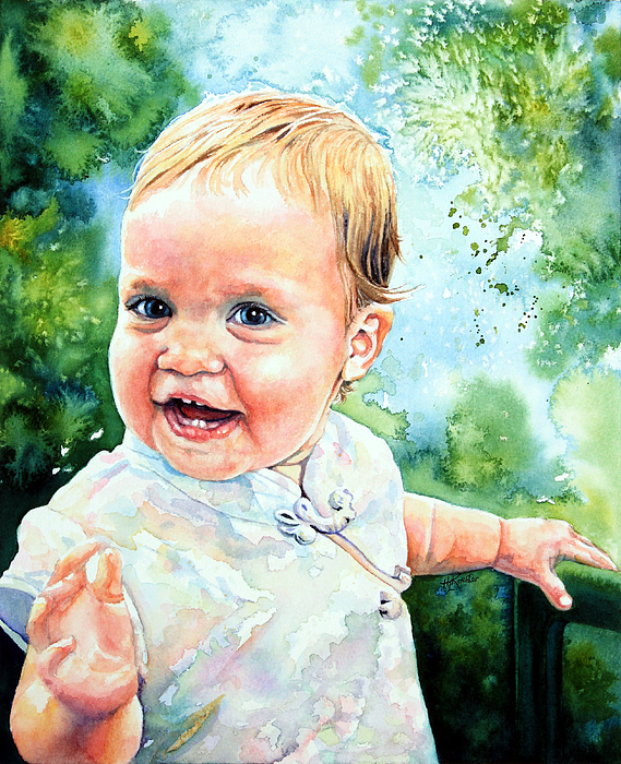 Girl Portrait By Hanne Lore Koehler Painting - Aeryn Portrait by Hanne Lore Koehler