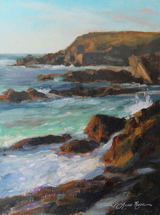 Afternoon Light Point Lobos Painting