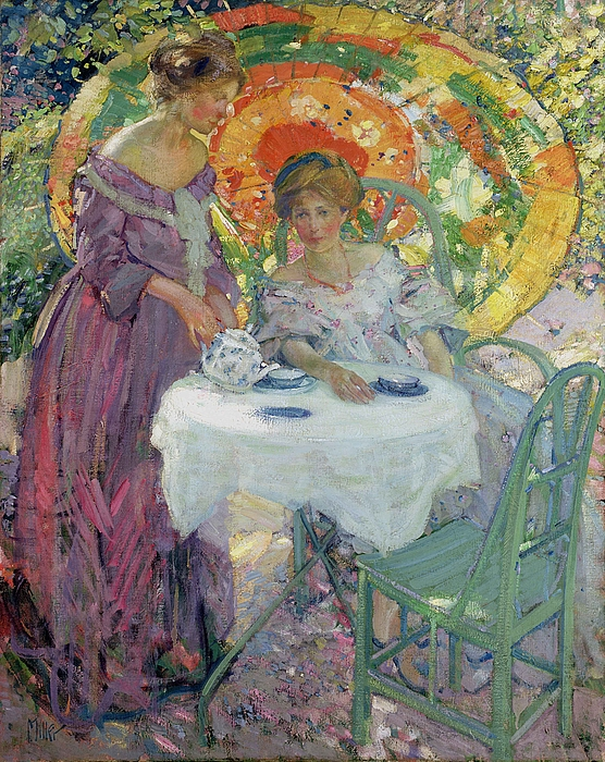 Female Painting - Afternoon Tea by Richard Edward Miller
