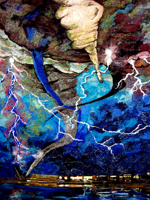 Storm Tapestry - Textile - Air Detail One by Kimberly Simon