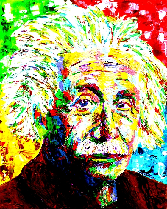 Albert Einstein Painting By Mike OBrien