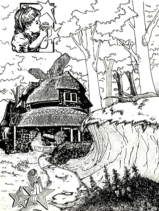 Alice At The March Hares House Drawing by Turtle Caps