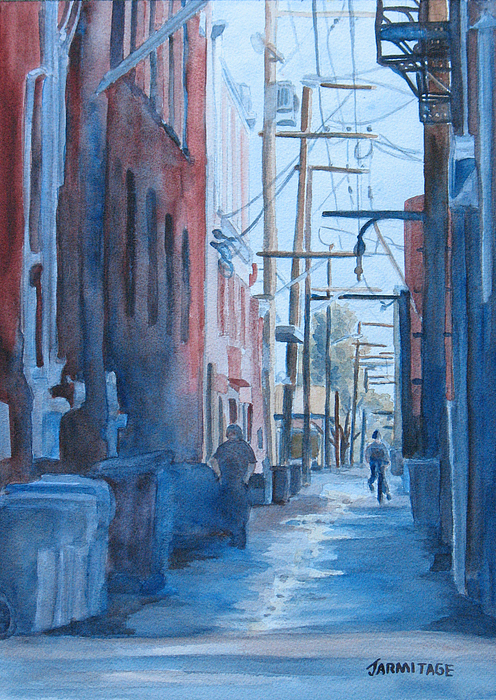 Alley Painting - Alley Shortcut by Jenny Armitage