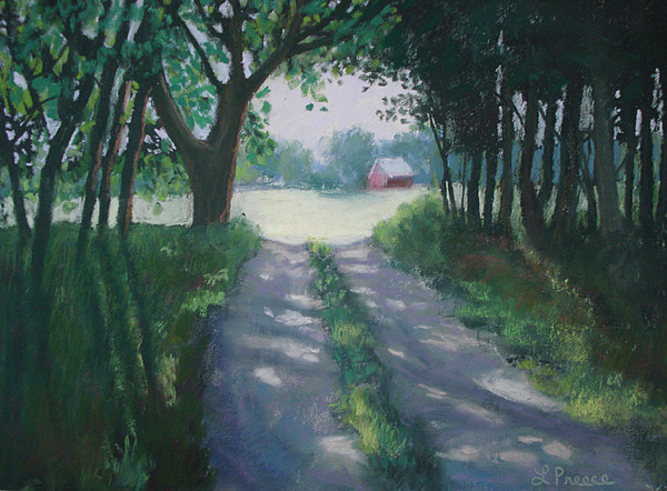 Landscape Painting - Along Kelderhouse Road by Linda Preece