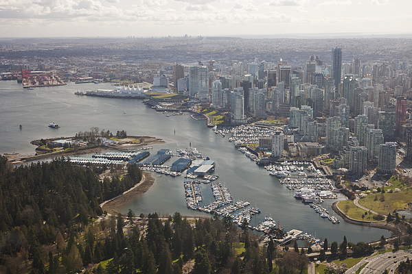 An Aerial View Of The City Of Vancouver Photograph