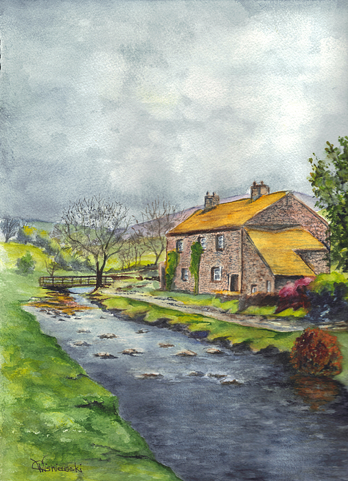 An Old Stone Cottage In Great Britain Painting
