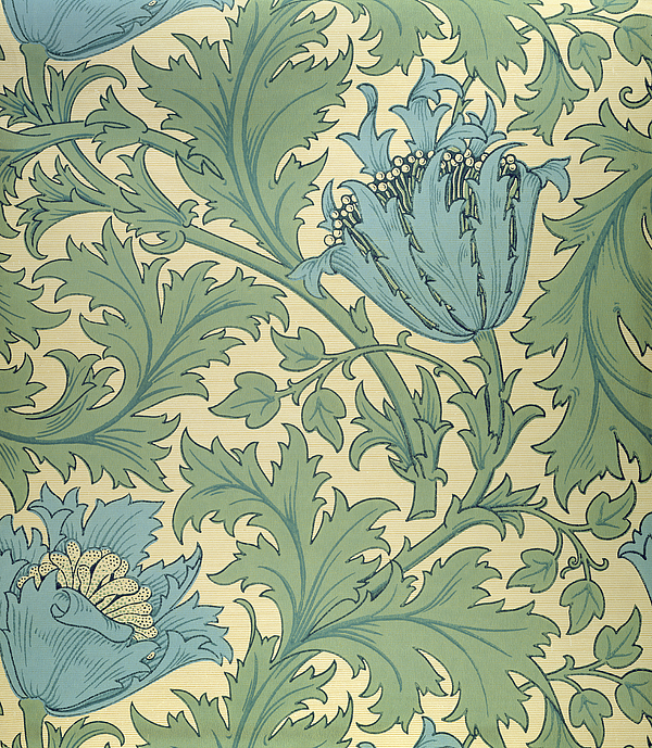 Arts And Crafts Movement; Floral; Pattern; Anemones Tapestry - Textile - Anemone Design by William Morris