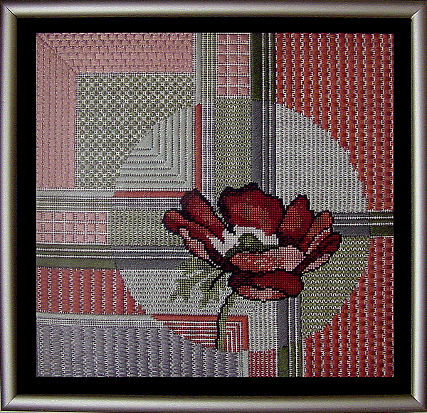 Thread Tapestry - Textile - Anemonie by Shirley Heyn