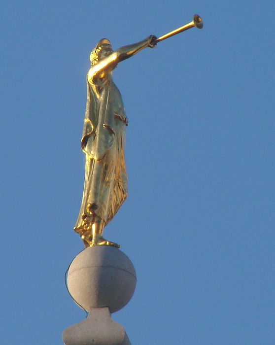 Angel Moroni Photograph - Angel Moroni Statue by Wayne Whitney