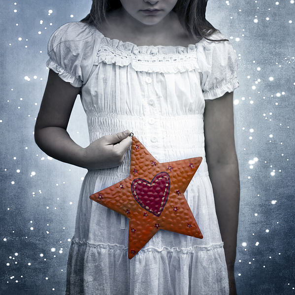 Girl Photograph - Angel With A Star by Joana Kruse