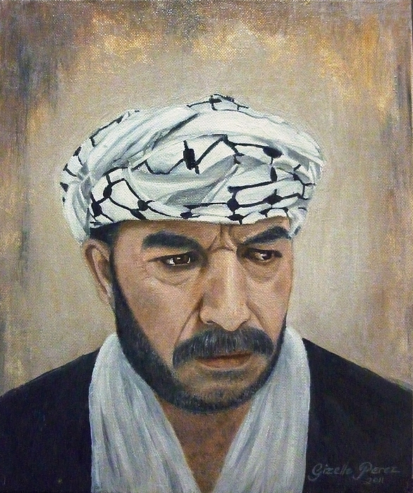 Palestinian Painting - Angry Palestinian by Gizelle Perez