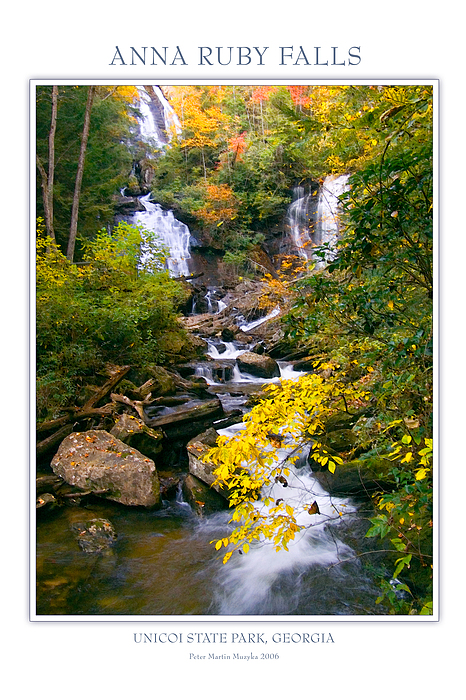 Landscape Photograph - Anna Ruby Falls by Peter Muzyka
