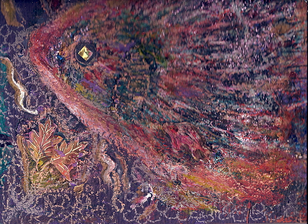 Multicolored Painting - Another Look At Fish Of Many Colors  by Anne-Elizabeth Whiteway