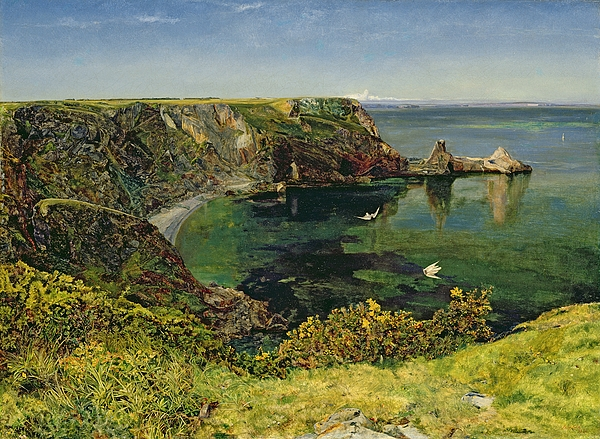 John William Inchbold Painting - Ansteys Cove In Devon by John William Inchbold