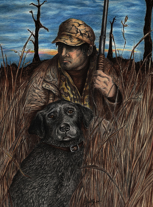 Hunting Drawing - Anticipation by Kathleen Kelly Thompson