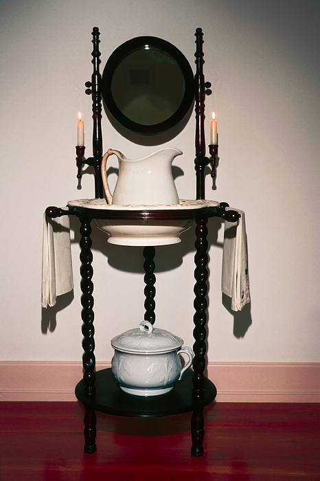 Lavabo Photograph - Antique Wash Stand by Sally Weigand