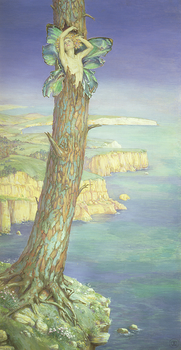 Fairy; The Tempest; Cloven Pine; Imprisoned; Island Painting - Ariel by Maud Tindal Atkinson