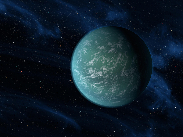 Concept Digital Art - Artists Concept Of Kepler 22b, An by Stocktrek Images