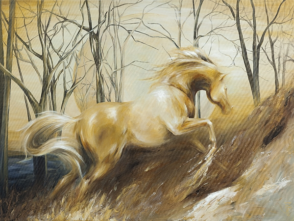 Horse Painting - Ascension by Dina Dargo