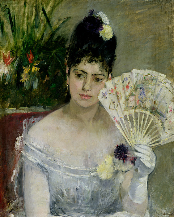 The Painting - At The Ball by Berthe Morisot