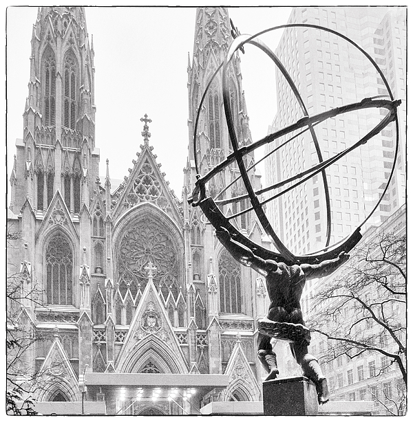 St. Patricks Photograph - Atlas And The Cathedral by Vicki Jauron