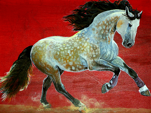 Horse Painting - Awesome Brioso by Jenn Cunningham
