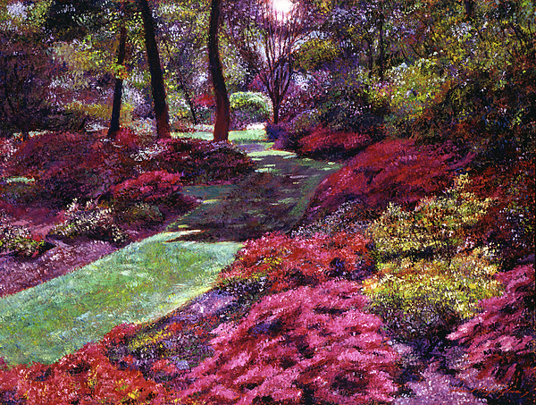 Impressionist Painting - Azalea Park by David Lloyd Glover