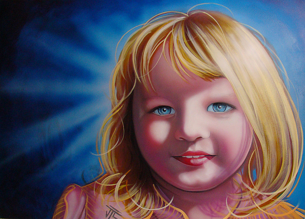 Portaits Painting - baby Halo by Joshua South