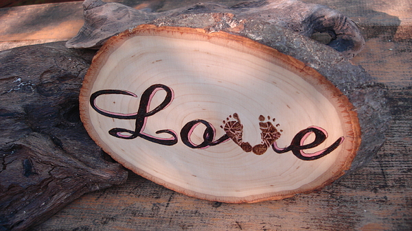 Baby Pyrography - Baby Love by Dakota Sage