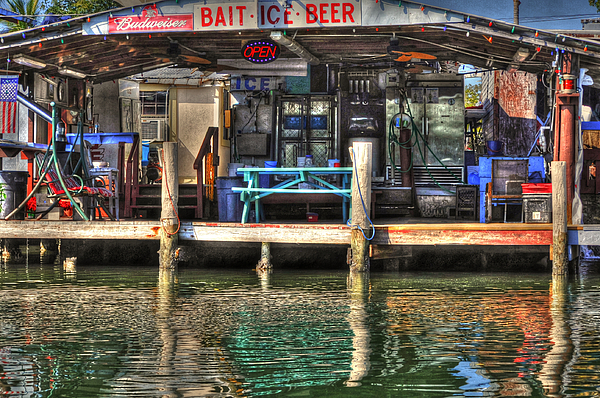 Bait Photograph - Bait Ice  Beer Shop On Bay by Dan Friend