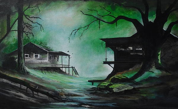 bayou backyard is a painting by robert ballance which was uploaded on