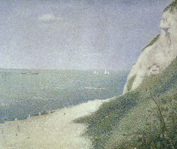 Beach At Bas Butin Painting - Beach At Bas Butin by Georges Pierre Seurat