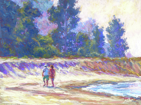 Nature Painting - Beachcombing by Michael Camp